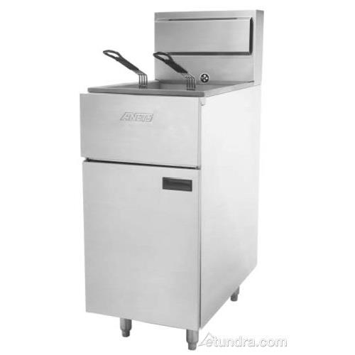 Gas Fryer With Griddle Gas ~ Anets slg lp silverline lb commercial gas fryer