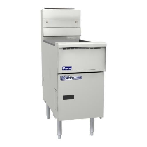 Solstice Supreme High Production 50 Lb Gas Fryer w/ Solid State Controller