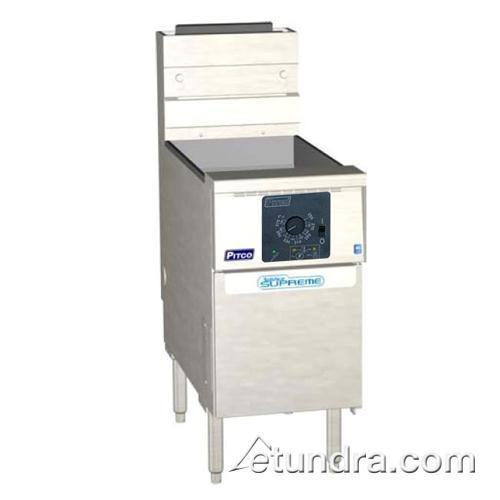 Solstice Supreme Twin 25 Lb Gas Fryer w/ Computer Controller