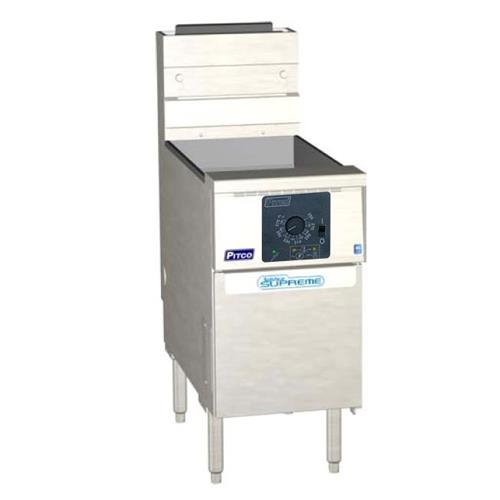 Solstice Supreme Twin 25 Lb Gas Fryer w/ Computer Controller