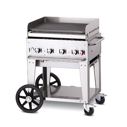 Crown verity cv mg 30ng mobile 30 in ng griddle etundra for Outdoor kitchen equipment