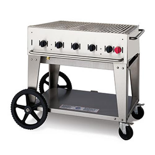 Crown verity cv mcb 30ng mobile 30 in ng charbroiler for Outdoor kitchen equipment
