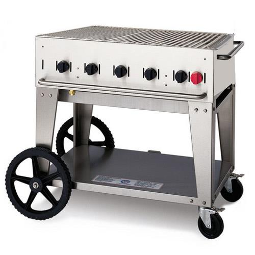 Crown verity cv mcb 36 mobile 36 in lp charbroiler for Outdoor kitchen equipment