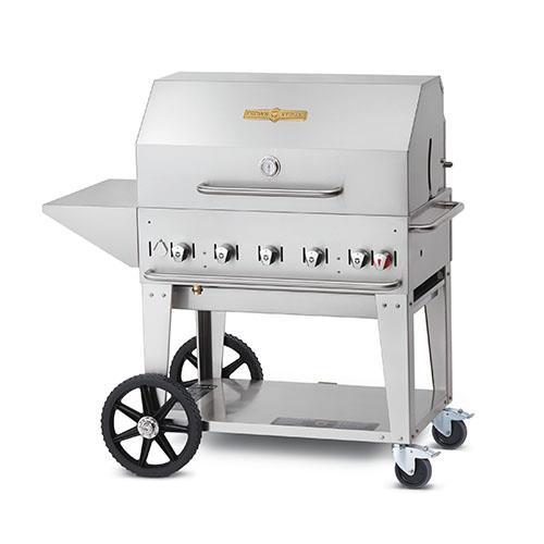 Crown verity cv mcb 36pkg mobile 36 in lp charbroiler for Outdoor kitchen equipment