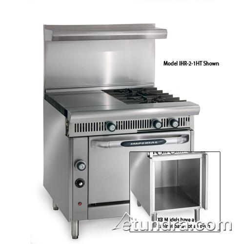 "Imperial - IHR-2-1HT-XB - Diamond Series 36"" Range w/ 2 Burners, 18"" Hot Top & Cabinet at Sears.com"