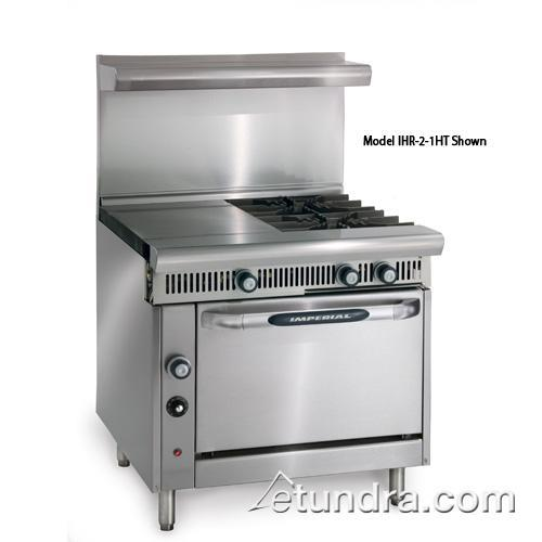 "Diamond Series 36"" Range w/ 3 Burners, 3 Hot Tops & Convection Oven at Discount Sku IHR-3HT-3-C IMPIHR3HT3C"