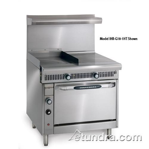 "Diamond Series 18"" Griddle w/ Hot Top & Convection Oven at Discount Sku IHR-G18-1HT-C IMPIHRG181HTC"