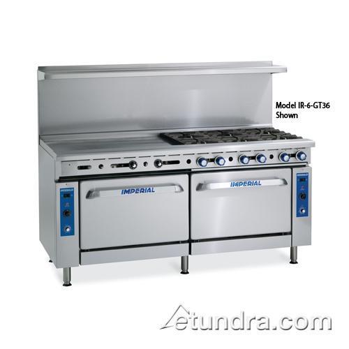 """72"""" Range w/ 2 Burners, 60"""" Griddle & 2 Standard Ovens at Discount Sku IR-2-G60 IMPIR2G60"""