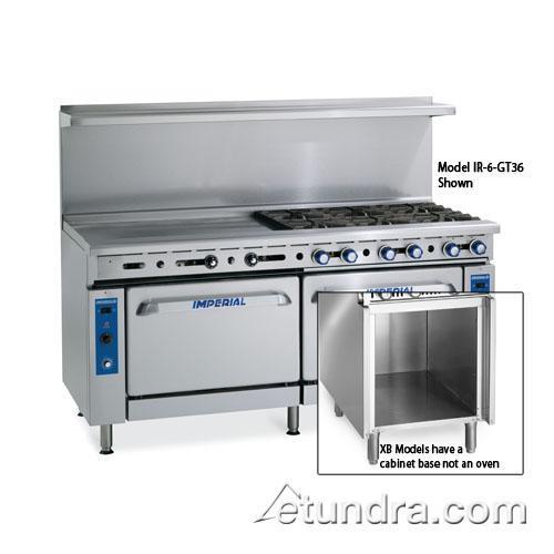 """48"""" Range w/ 6 Burners, 12"""" Griddle, Standard Oven & Cabinet at Discount Sku IR-6-G12-XB IMPIR6G12XB"""