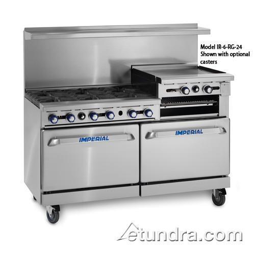 """60"""" Range w/ 6 Burners, 24"""" Raised Griddle & 2 Standard Ovens"""
