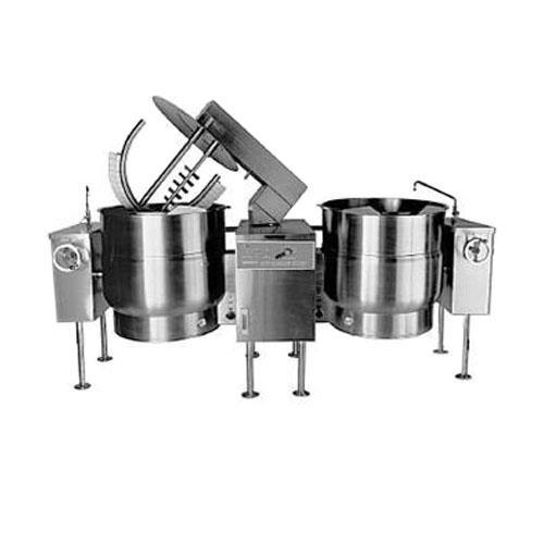 80 Gallon Double Direct Steam Mixer Steam Kettle