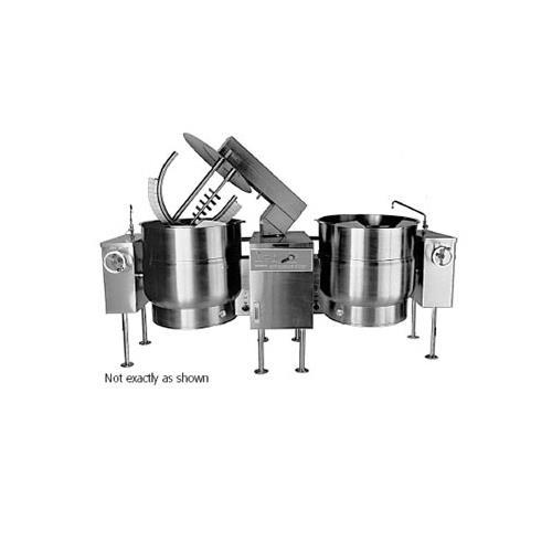 60 Gallon Double Electric Mixer Steam Kettle