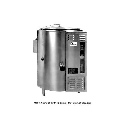 "32.5"" 40 Gallon Gas Floor Steam Kettle at Discount Sku KSLG-40 SOUKSLG40"