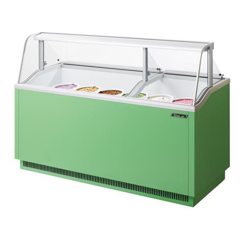 ice cream dipping cabinet turbo air tidc 70g 70 in green dipping 17466