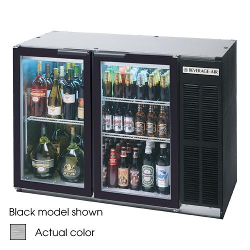 """48"""" Glass Door Back Bar Cooler at Discount Sku BB48GY-1-S BEVBB48GY1S"""