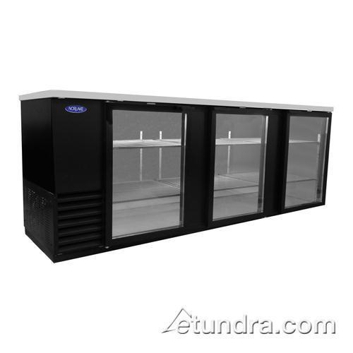 "AdvantEDGE 79"" Glass Door Back Bar Cooler at Discount Sku NLBB79-G NORNLBB79G"