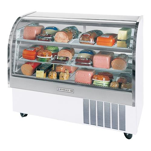 61 in White Refrigerated Display Case