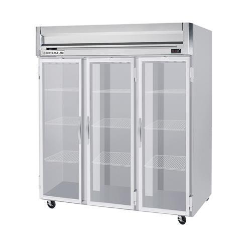 Beverage air hf3 5g h series 3 glass door freezer for 1 door freezer