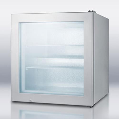 Glass Door Compact Display Freezer