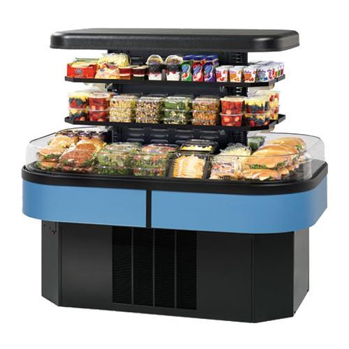 "60"" x 55"" Refrigerated Island Merchandiser at Discount Sku IMSS60SC-2 FEDIMSS60SC2"