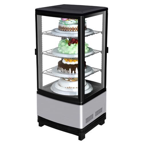 Diamond Show Case Pass Thru Countertop 4-Sided Glass Merchandiser at Discount Sku CRT-77-2R TURCRT772R