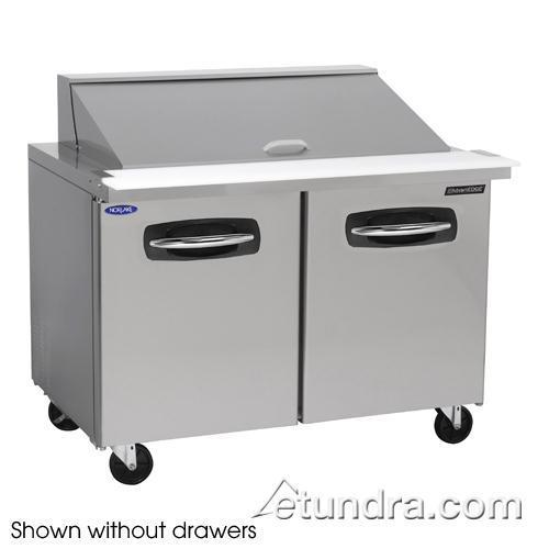 "AdvantEDGE 2 Drawer 48"" Mega Top Prep Table w/Right Door at Discount Sku NLSMP48-18-003 NORNLSMP4818003"