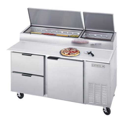 67 in 2 Drawer Pizza Prep Table