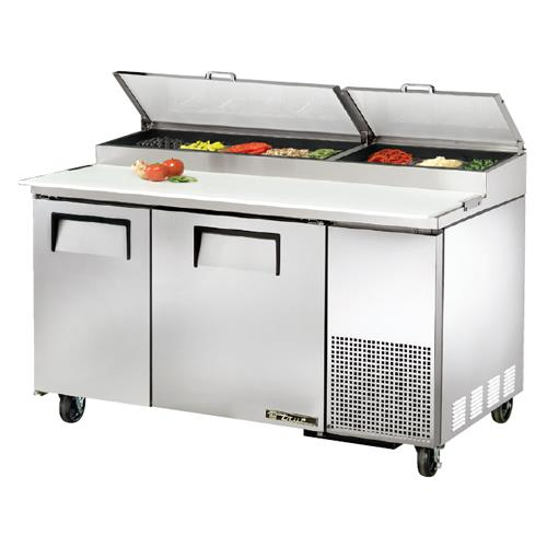 True tpp 60 2 door 60 in pizza prep table etundra for Table cuisine annee 60