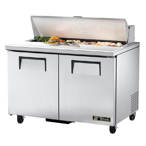 "True - TSSU-48-12 - 2 Door 48"" Sandwich Prep Table"