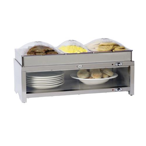 Cadco - CMLB-CSLP - Warming Cabinet with Buffet Server and Clear Lids