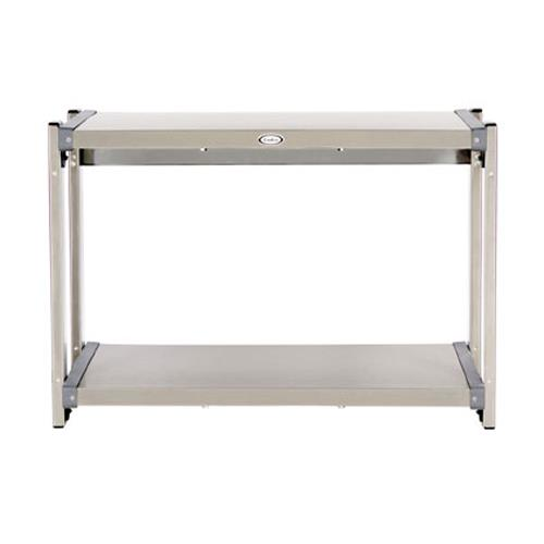 Cadco - CMLW-2 - 20 1/2 x 14 in Multi Level Stainless Steel Countertop Warming Shelf