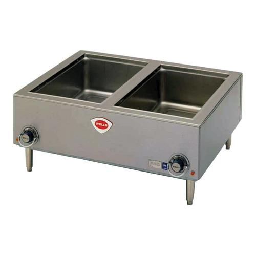 Food Warmer Holder ~ Wells tmpt d dual full size food warmer w drain ebay