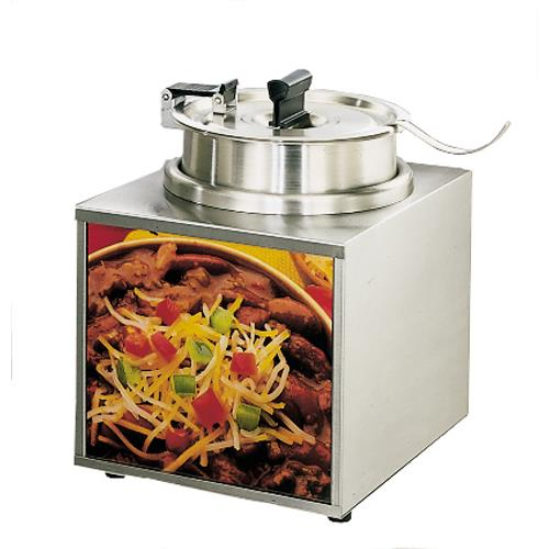 3 1/2 Qt Lighted Food Warmer w/ Hinged Cover & Ladle at Discount Sku 3WLA-4H STA3WLA4H