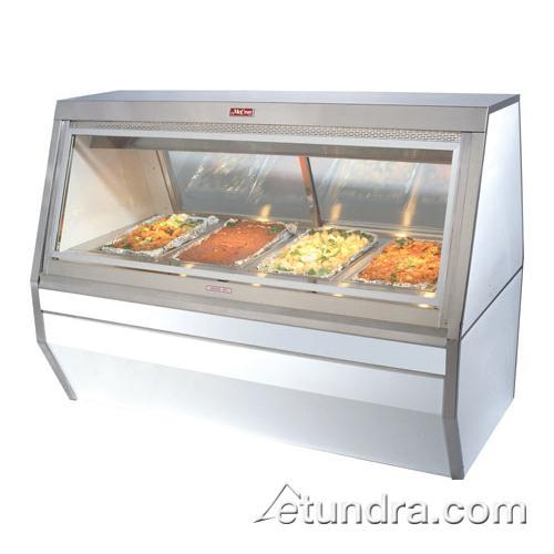 3-Well White Hot Food Case at Discount Sku CHS35-4 HWDCHS354