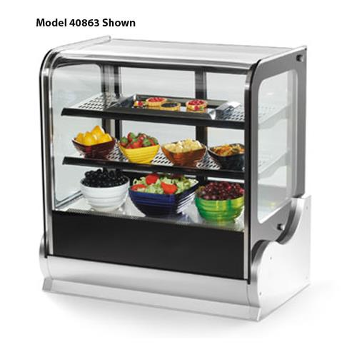 "48"" Cubed Glass Heated Display Cabinet at Discount Sku 40866 VOL40866"