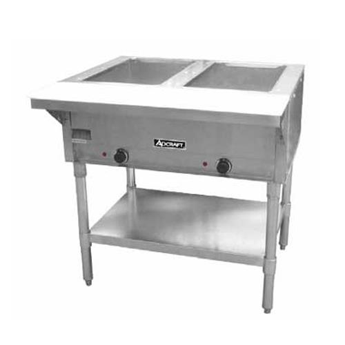 Adcraft st 120 2 33 in double well hot food table for Table cuisine 70 x 120