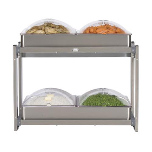 Cadco - CMLB-24P - Multi Level Buffet Server With Clear Lids