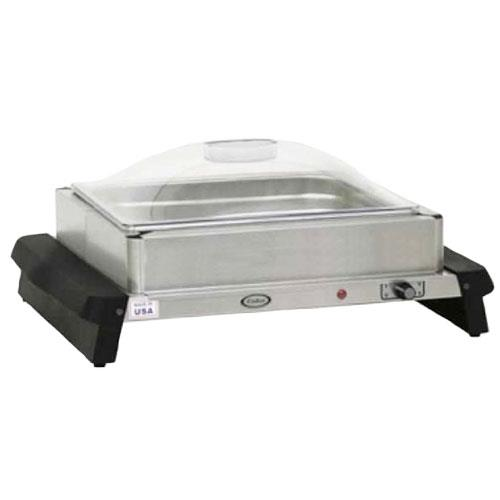 Cadco - WTBS-12P - Single Buffet Server with Clear Lid