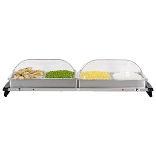Cadco - WTBS-4RT - Jumbo Buffet Server with Clear Rolltop Lids