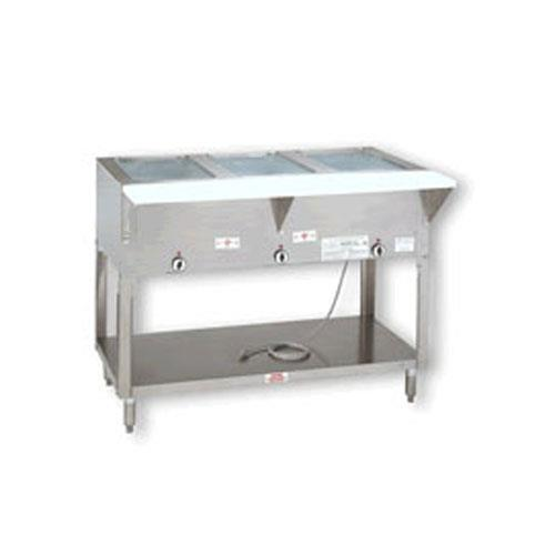 Triumph electric 3 well hot food table at discount sku hf for Table cuisine 70 x 120
