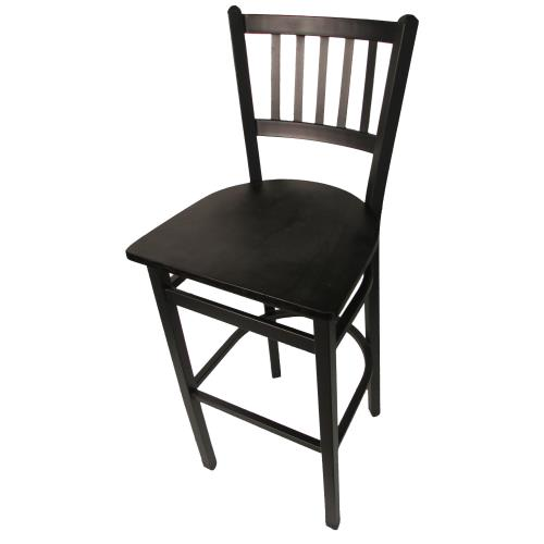 Oakwood Furniture Mfg ~ Oak street sl b verticalback barstool w black