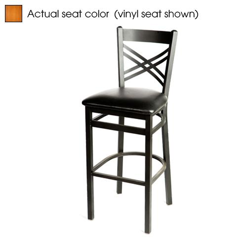 Oak street sl c crossback barstool w cherry wood