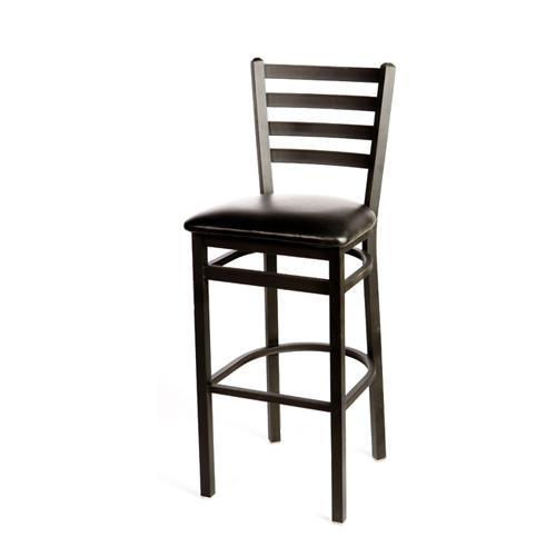 Oak Street Sl2301 Blk Ladderback Barstool W Black