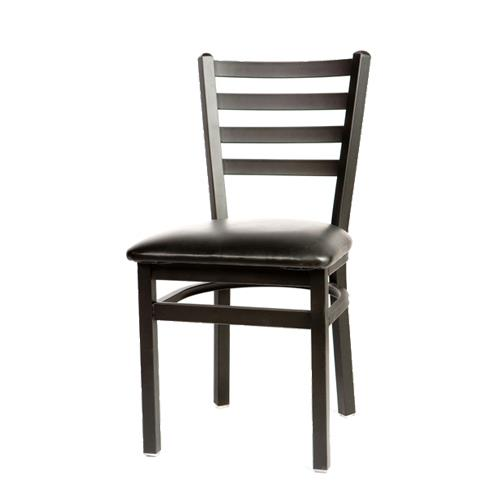 Oak Street Sl2160 Blk Ladderback Dining Chair W Black