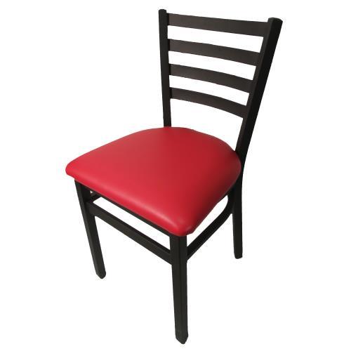 Oak Street Sl2160 Red Ladderback Dining Chair W Red