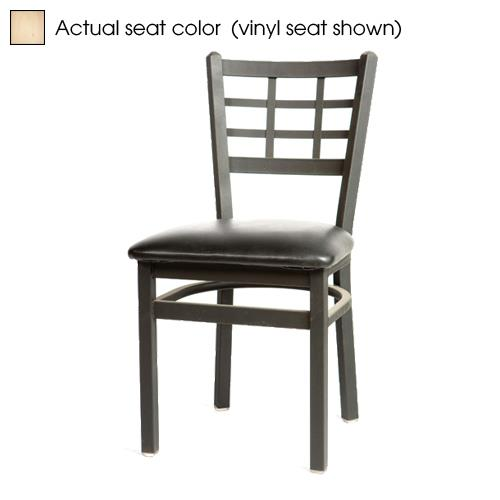 Oak street sl2163 n windowpane chair w natural wood for Natural wood dining chairs