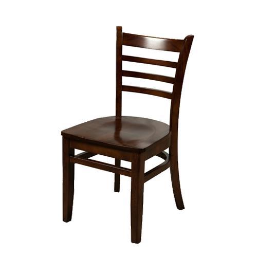 All Wood Dining Sets: Ladderback Walnut All Wood Chair