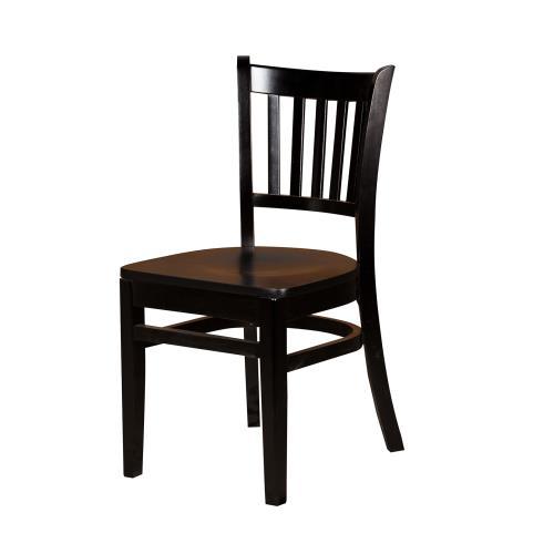 Verticalback Black All Wood Chair