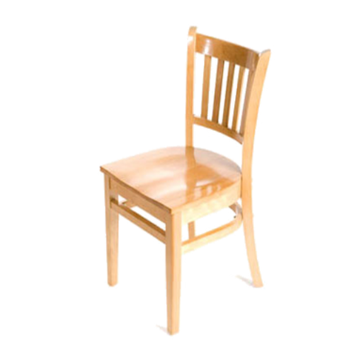 Verticalback Natural All Wood Chair