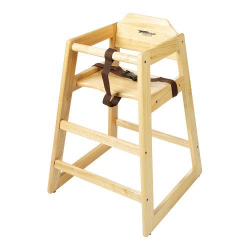 Knock Down Natural High Chair